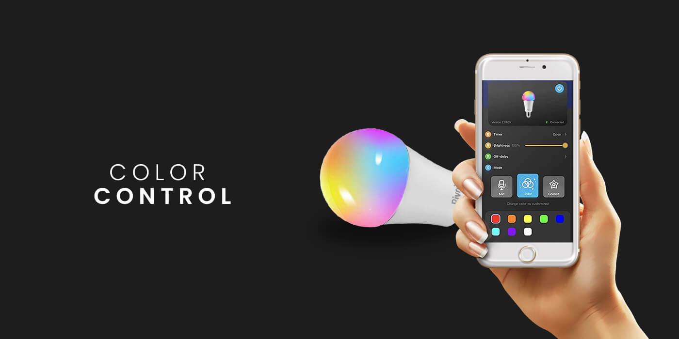 Pivoi 9W Smart LED Color Changing WiFi Smart LightBulb