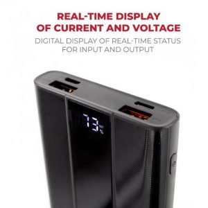 Pivoi Black 10000mAh PD Power Bank With Smart Dual USB Port