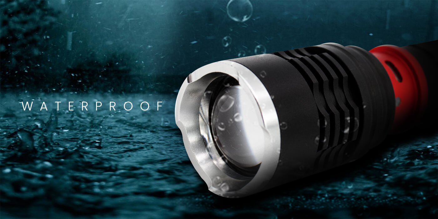 Pivoi 10W 1000 Lumens Rechargeable Flashlight with Clip