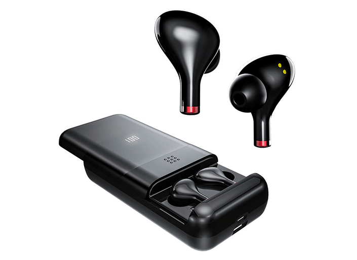 Pivoi True Wireless Bluetooth Earbuds with 10000mAh Battery Pack and Mic