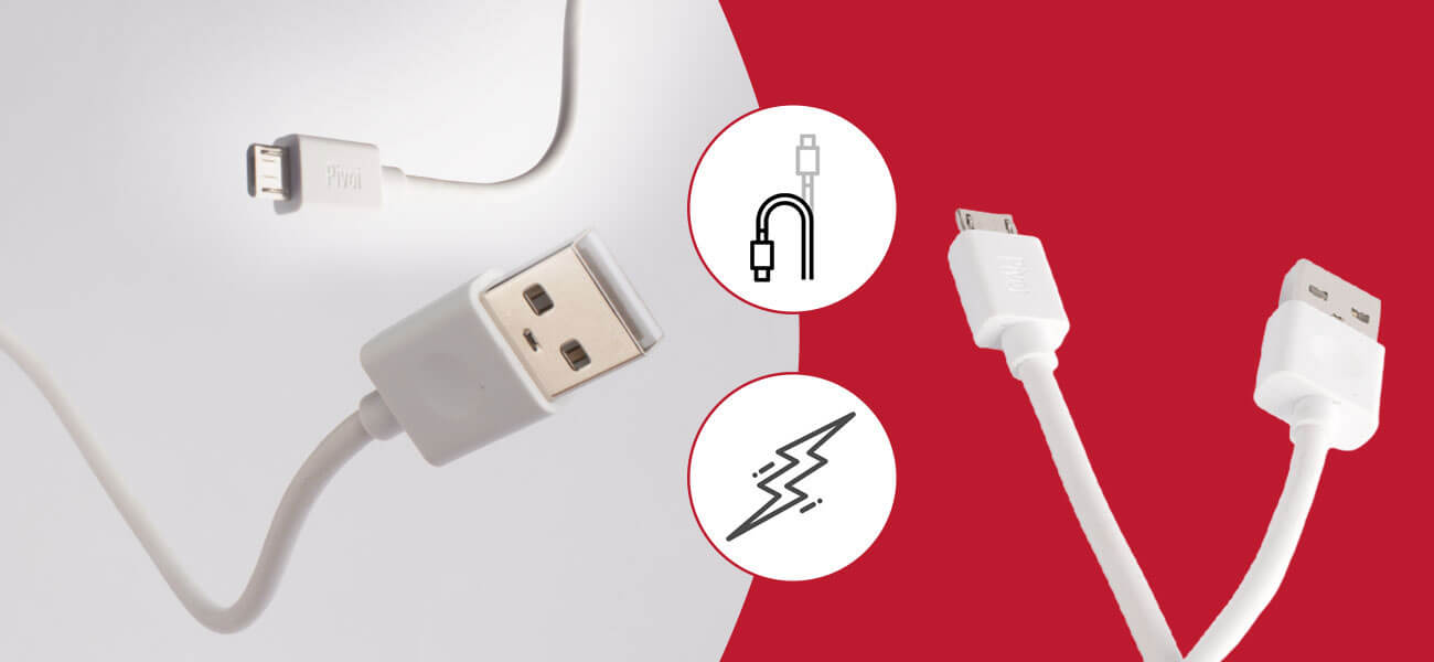 Pivoi White USB 2.0 to Micro Cable (Pack of 1)