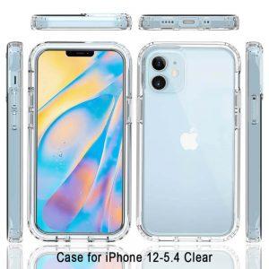 Pivoi iPhone 12 Mini 5.4 inch Transparent Mobile Covers