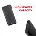 Pivoi Black 10000mAh Power Bank With Smart Dual USB Port
