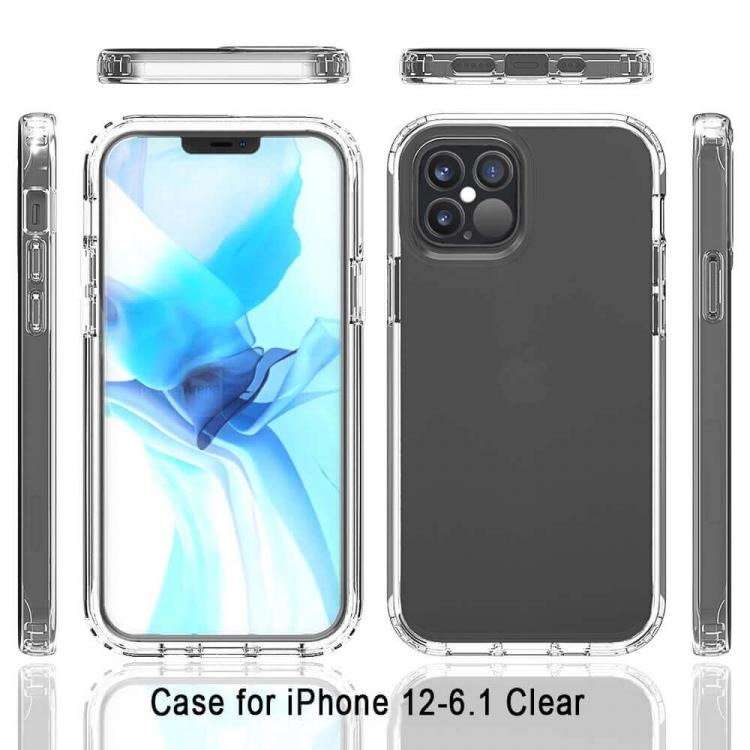 Pivoi iPhone 12 Pro 6.1 inch Transparent Mobile Back Covers